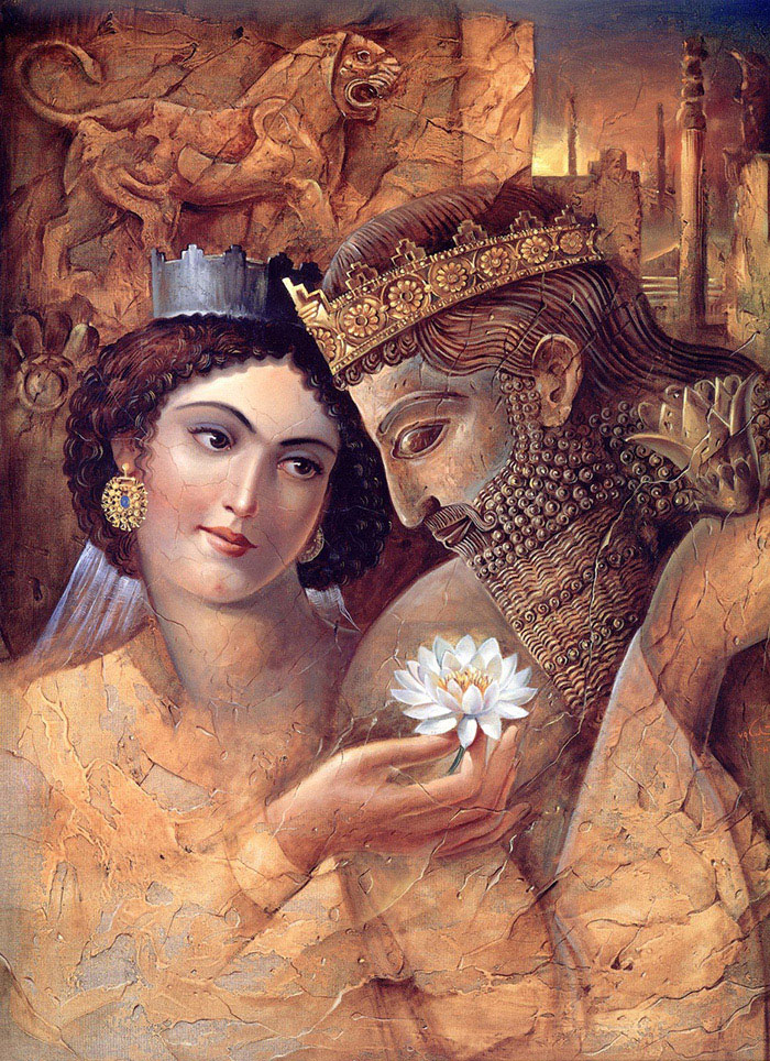 great god king xerxes enthralled by the beauty of esther