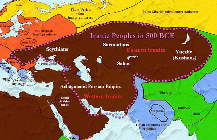 Timeline of persia from 8000 bce until the present day of iran iranic eastern and western peoples map gumiabroncs Choice Image